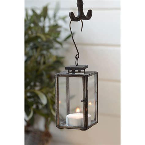 Pillar Lantern Candle Holders Mini Glass Metal Black Hanging Lantern Pillar Candle