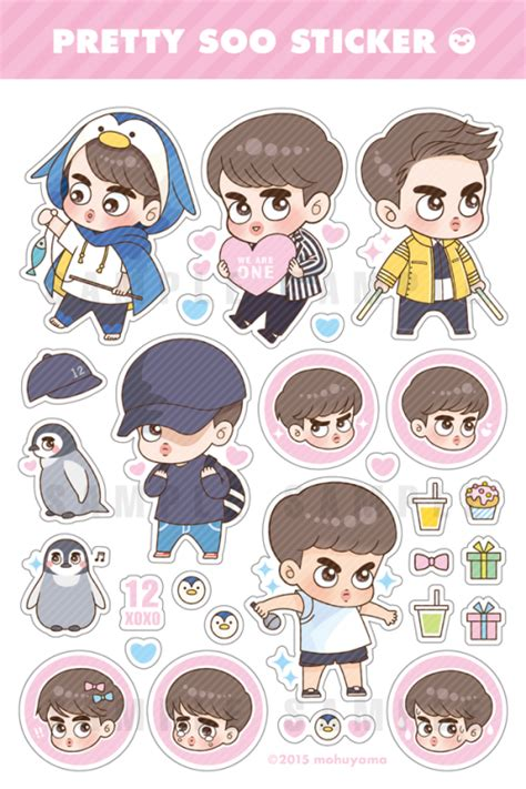 theme line chanbaek exo sticker tumblr