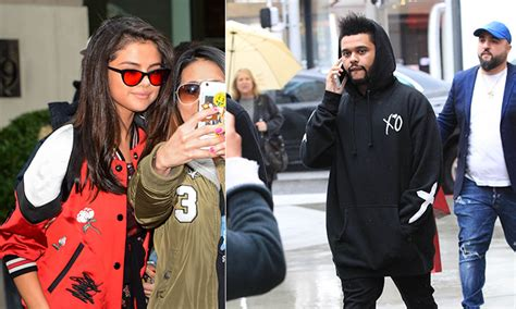 Sweater The Weeknd Fair selena gomez and the weeknd a date in new york hello canada