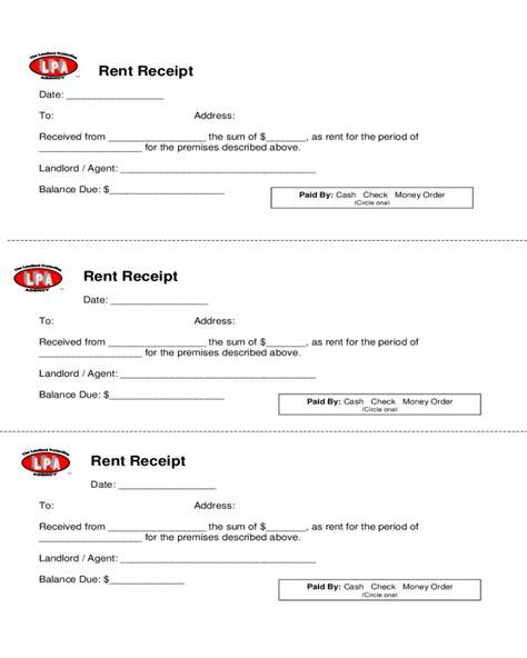 Rent Deposit Receipt Template Ontario by Rent Receipt Sle Rent Receipt Rent Receipt Template 1