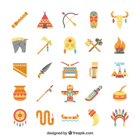 imagenes de simbolos indigenas elementos de ind 237 gena americano descargar vectores gratis