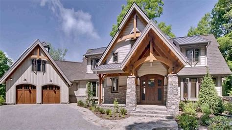 wood frame house plans craftsman style timber frame house plans youtube