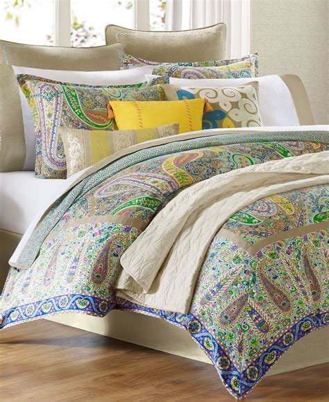 echo bedding scarf paisley comforter from macys