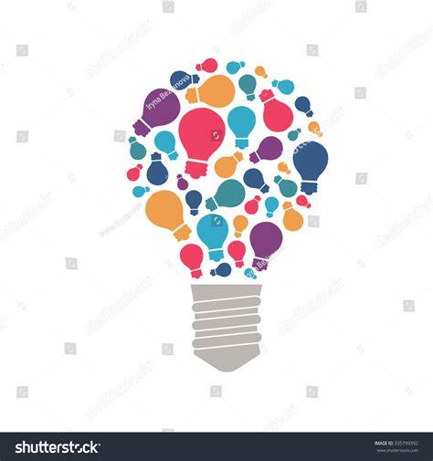 ideas image presentation hint ideas brain light bulb stock vector