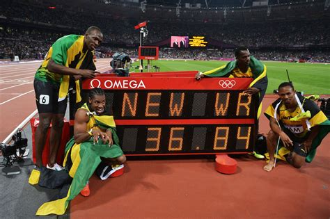 Jamaica Records Usain Bolt Leads Jamaica To 4x100m Relay World Record Sbnation