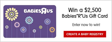 Babies R Us Registry Gift Card - babies r us philips avent april registry sweepstakes