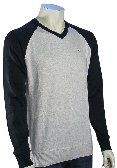 Sweater Hurley Original Klo Hurley 3 Hurley One And Only V Neck Sweater Mineral Grey