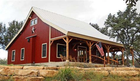 barn like house plans country barn home kit w open porch 9 pictures metal