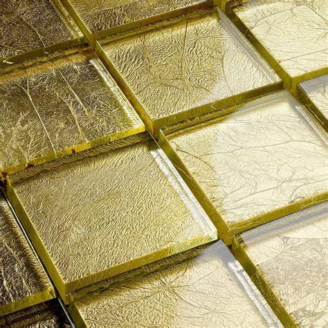 mosaik fliesen 30x30 glasmosaik blattgold mosaik gold fliesen 30x30 cm ebay