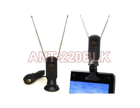 portable digital tv antenna with detachable suction clip mount for tv tuner ebay
