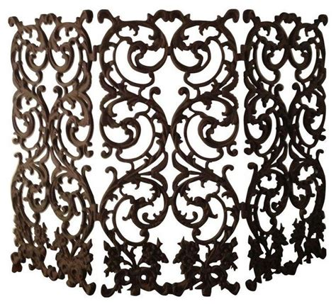 Beautiful Ornate Wrought Iron Fireplace Screen   Screens