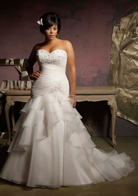 mermaid wedding dresses plus size plus size wedding dress with mermaid style sangmaestro