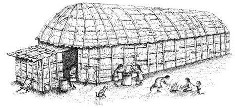 coloring pages longhouse iroquois nation crystalinks