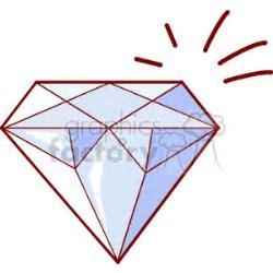 Download Shiny cut diamond cartoon royalty free clipart