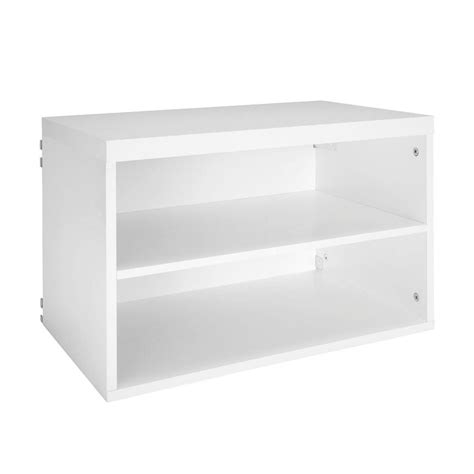 closetmaid elite 14 5 8 in 3 shelf organizer in white