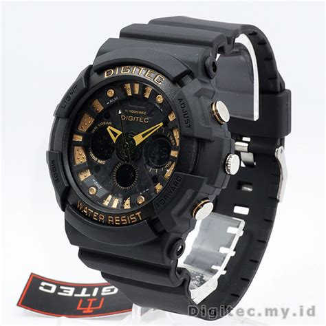 Jam Tangan Digitec 2040t Blackgold digitec dg 2040t black gold jam tangan sport anti air murah