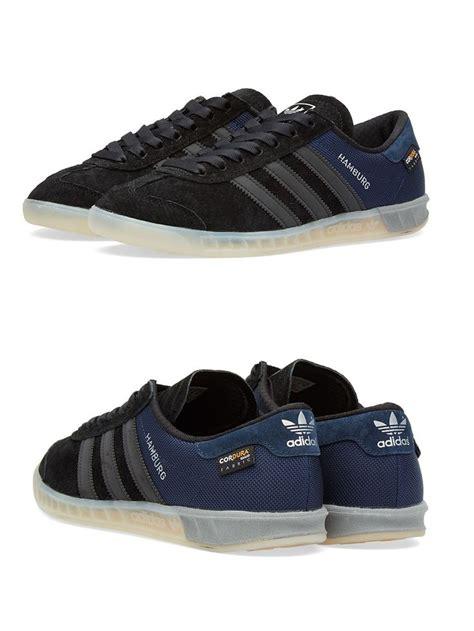 adidas hamburg original adidas originals hamburg tech black blue sneakers