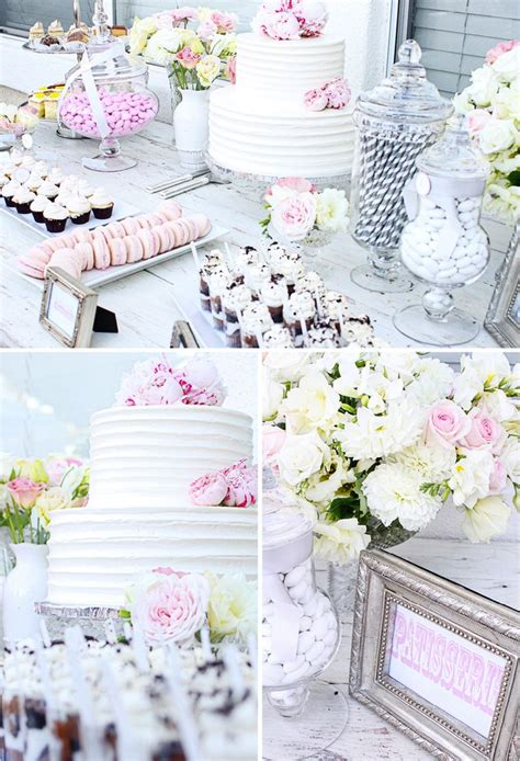 bridal shower table bridal shower dessert table bridal shower pinterest