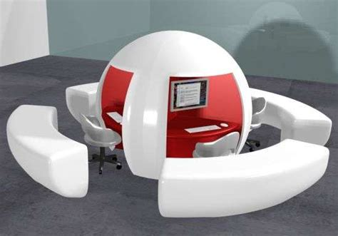 futuristic office desk decocurbs com amazing funny egg shaped workstations job buenazedacruz s design for a