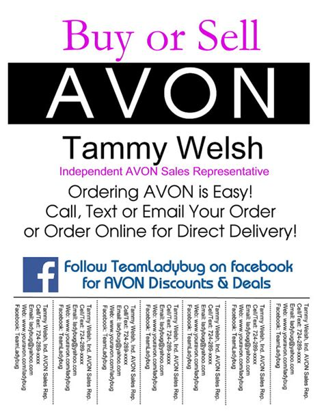 avon templates free avon buy or sell bulletin board flyer colorful and