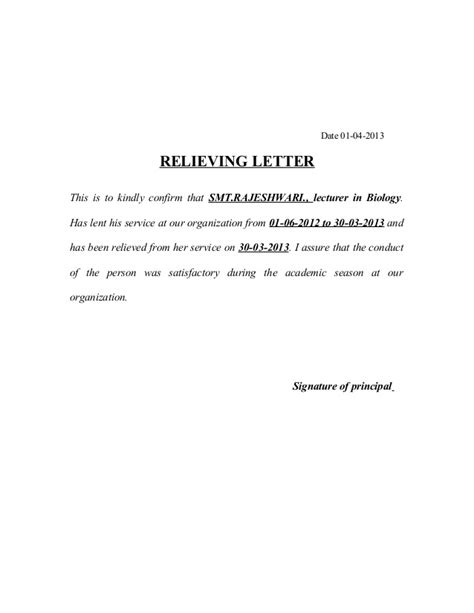 Acceptance Letter For Contract Renewal Relieving Letters And Format