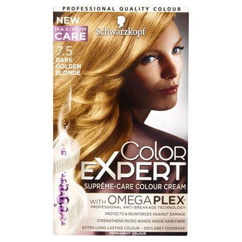 how to mix schwarzkopf hair color schwarzkopf color expert 7 5 dark golden blonde hair dye