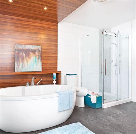 bois autour de la baignoire salle de bain inspirations d 233 coration et r 233 novation pratico