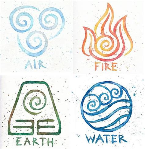 earth air fire water tattoo design 25 best ideas about four elements on