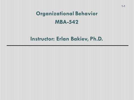 Mba In Organizational Behavior In India by Introduction To Industrial Organizational Psychology By