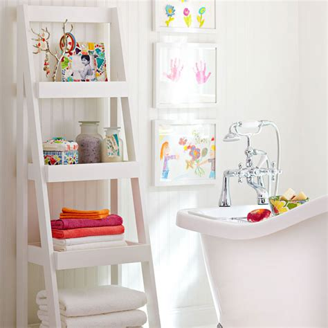 ladder shelf bathroom clever ways of turning ladders into accent pieces for the home
