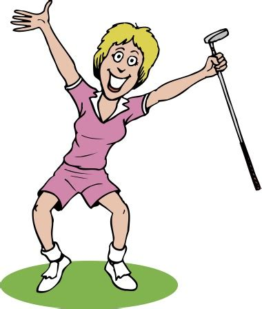 Questions, Worries and Answers | Ladies Golfing For Hospice Women's Golf Cartoons Clip Art