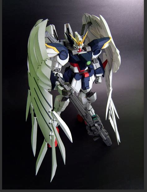 Gundam Wing Zero Papercraft - gundam gundam papercraft xxxg 00w0 wing gundam zero