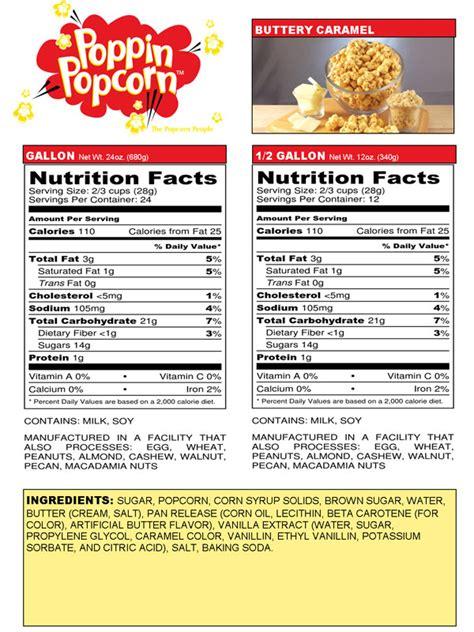 corn calories caramel corn calories