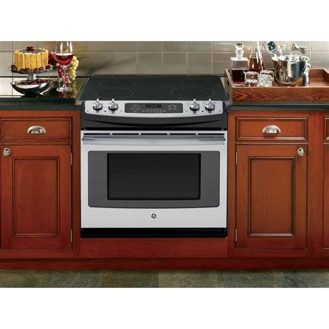 drop in stove ge appliances 30 quot drop in electric range stainless steel