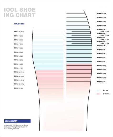 printable shoe size chart pdf printable shoe size chart shoe sizing chart shoes