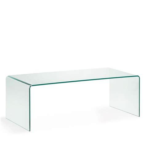 table basse en verre tremp 233 transparent burano par drawer fr