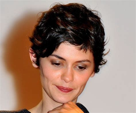 naturally curly pixie cuts for big women audrey tautou audrey tautou popsugar and on the side
