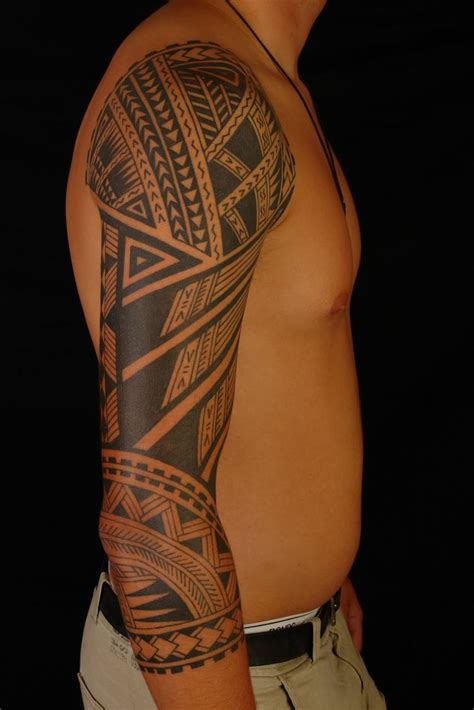 tribal tattoo around arm polynesian tribal arm best design ideas