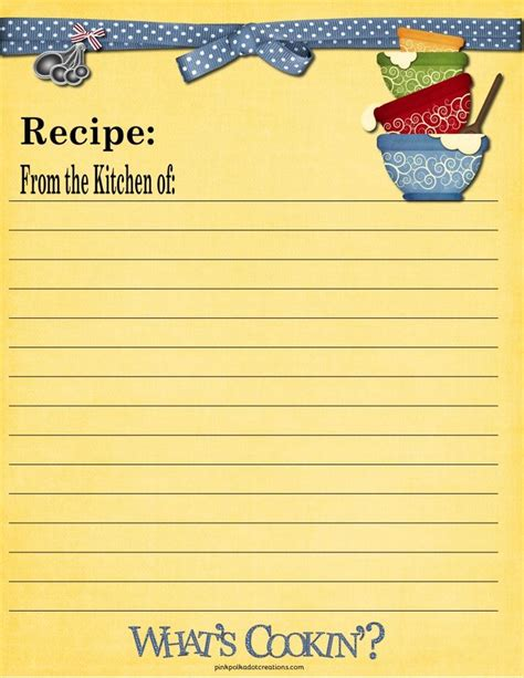 Pages Template Recipe Card by 65 Best Images About Recipe Cards On Printable