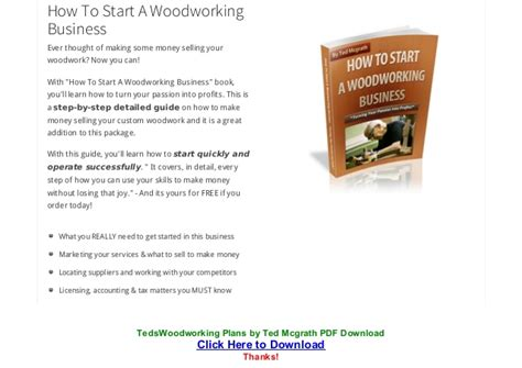teds woodworking plans  ted mcgrath