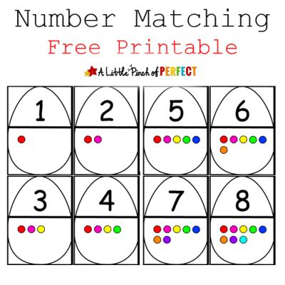 printable numbers matching game printables archives page 5 of 7
