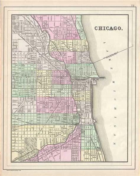 chicago map us chicago geographicus antique maps