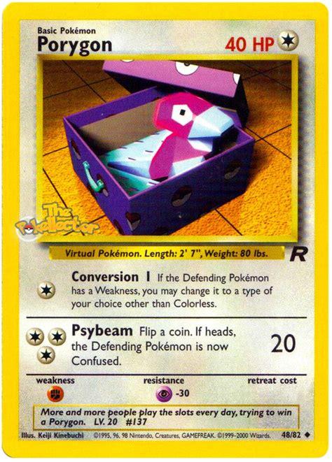 Gift Card Rocket - porygon team rocket 48 pokemon card