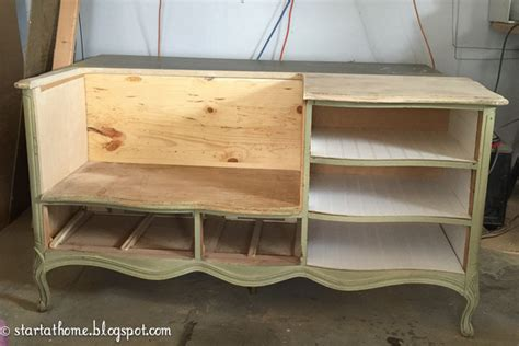 how to turn a dresser into a bench french dresser turned bench start at home decor