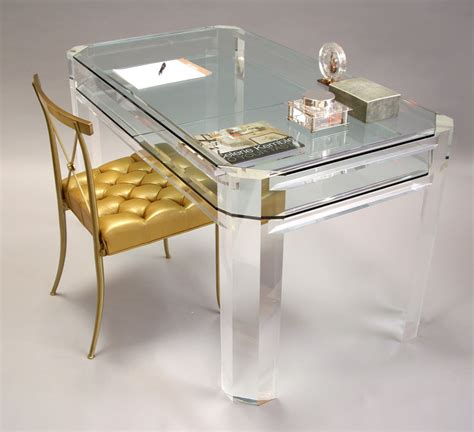 Lucite Desks Furniture by Janel Interior Design For The Of Lucite