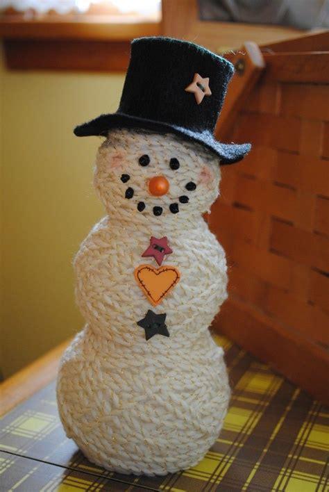 snowman sock yarn easy to make snowman with balls of yarn craft closet