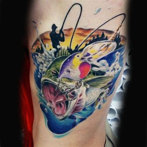 fishing tattoo ideas for men bass fishing tattoos for 75 bass designs for