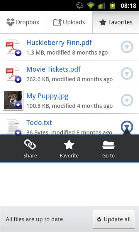 dropbox download for android dropbox for android 2 0 now available for download