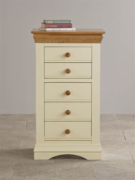 country cottage furniture company country cottage oak and painted 5 drawer chest