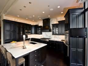 Kitchens With Black Cabinets 15 Astonishing Black Kitchen Cabinets Home Design Lover